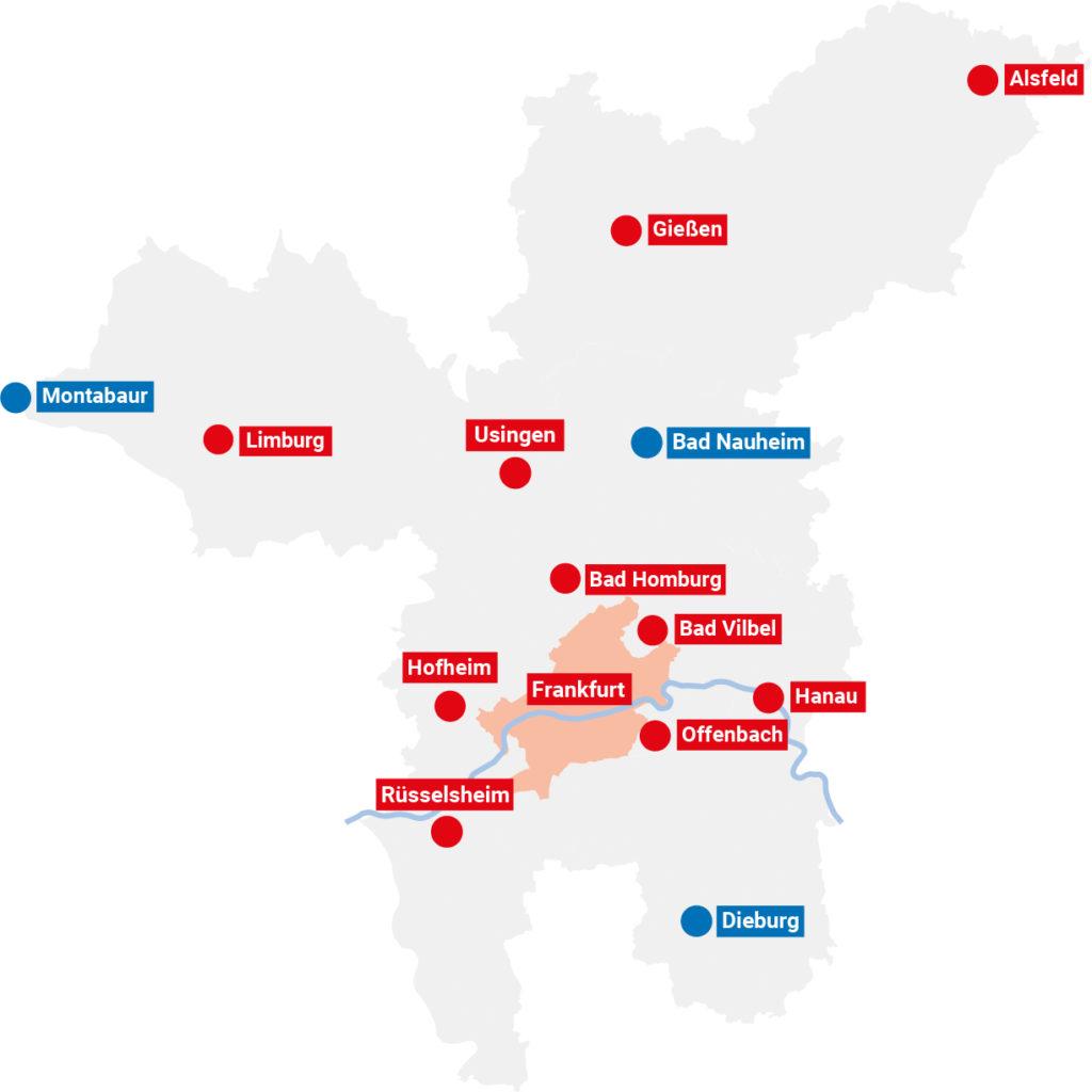 Der Aktionsradius der LEBERECHT-Stiftung